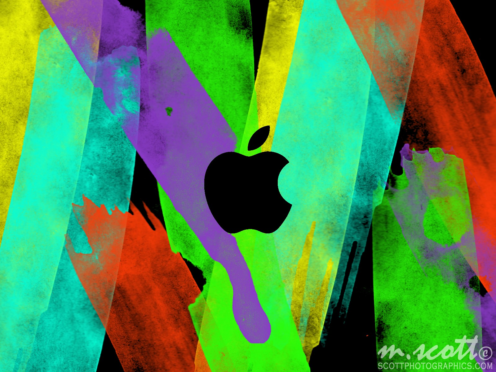 water colour gimp colours apple logo Apple wallpaper directory
